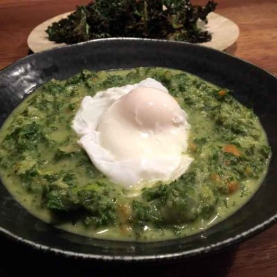 Opskrift på nem cremet grønkålssuppe