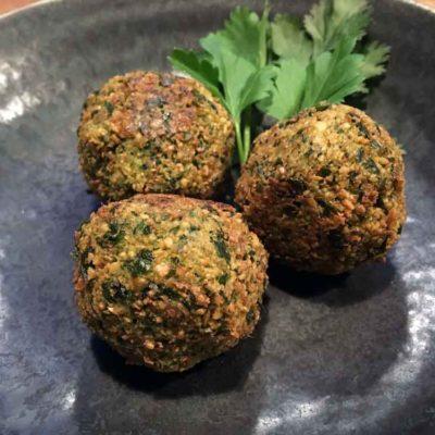 Opskrift på vegansk falafel