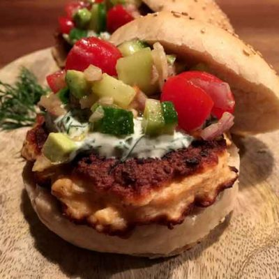 Opskrift: Luksus lakseburger