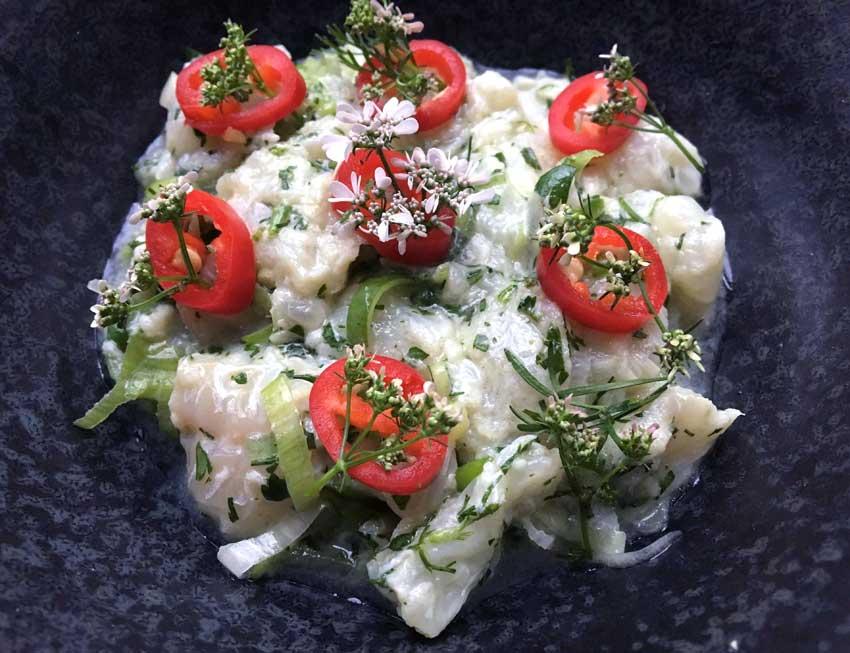 Opskrift: Ceviche af torsk – thaistyle
