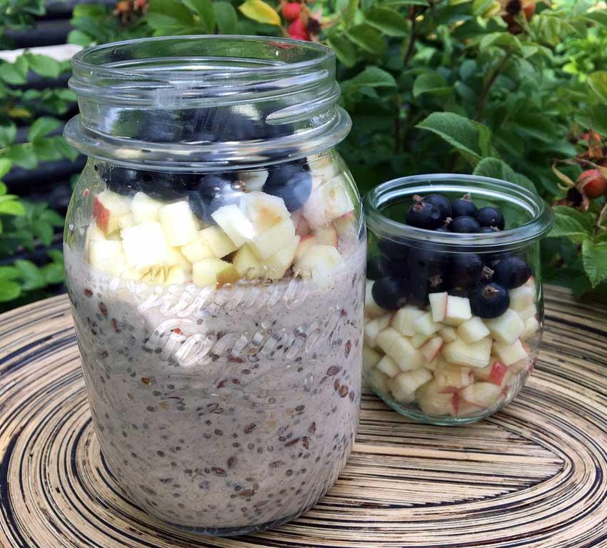 Opskrift: Overnight oats med 3 slags kerner