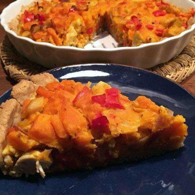 Opskrift: Tærte med græskar og kylling