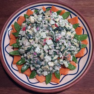 Opskrift: Kartoffelsalat af søde kartofler