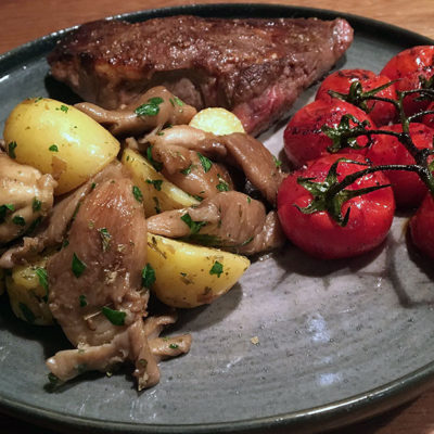 Opskrift: Kartofler & østershatte