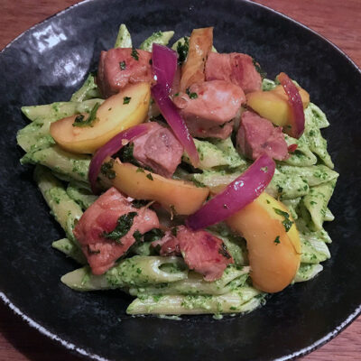 Opskrift: Pasta med grønkålspesto