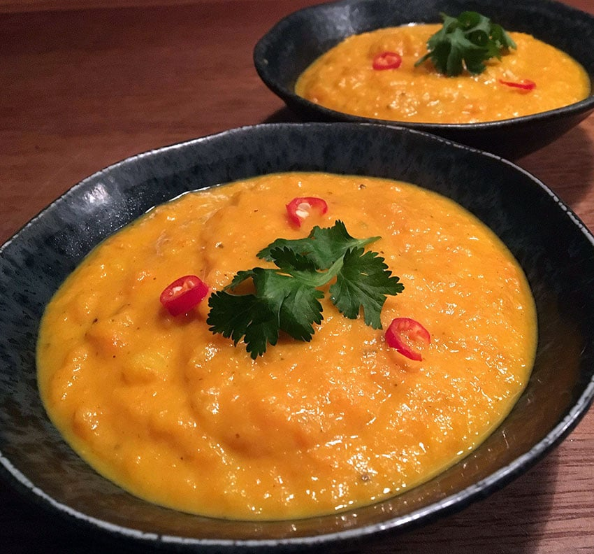 Opskrift: Spicy gulerodssuppe