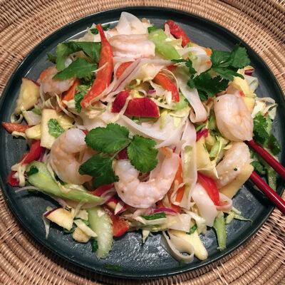 Opskrift: Thailandsk nudelsalat med rejer