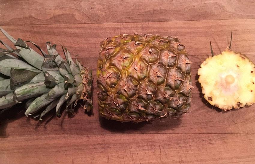 Sådan skræller du en ananas