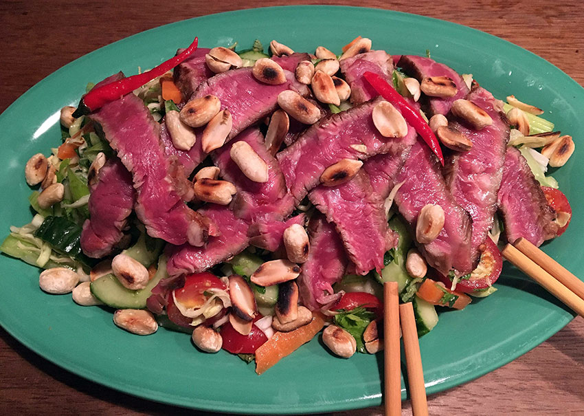 Opskrift: Spicy thai beef salad