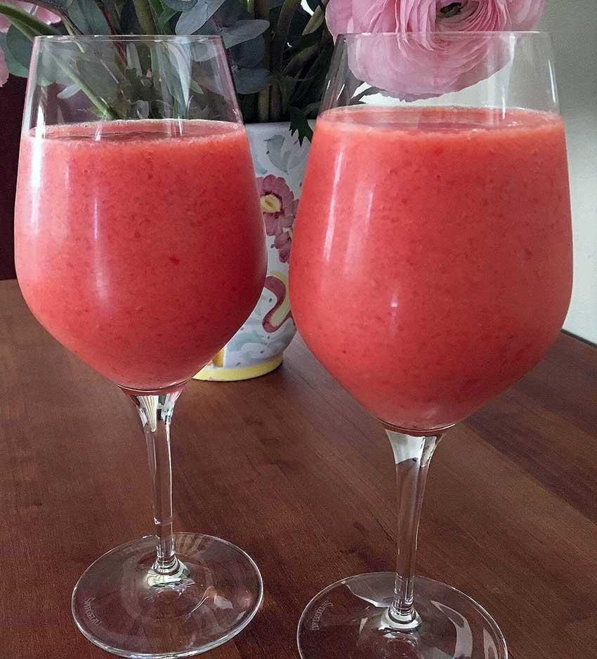 Opskrift: Mango hindbær smoothie