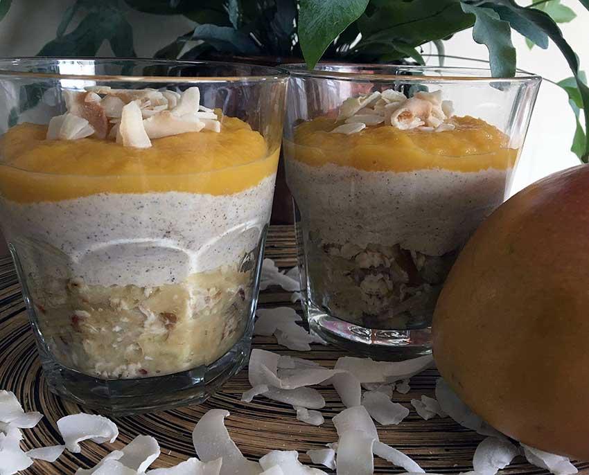 Opskrift: Mango yoghurt med æble