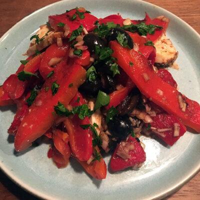 Opskrift: Salat med grillede peberfrugter - insalata di peperoni
