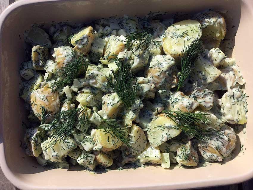 Opskrift: Kartoffelsalat med dildmayo