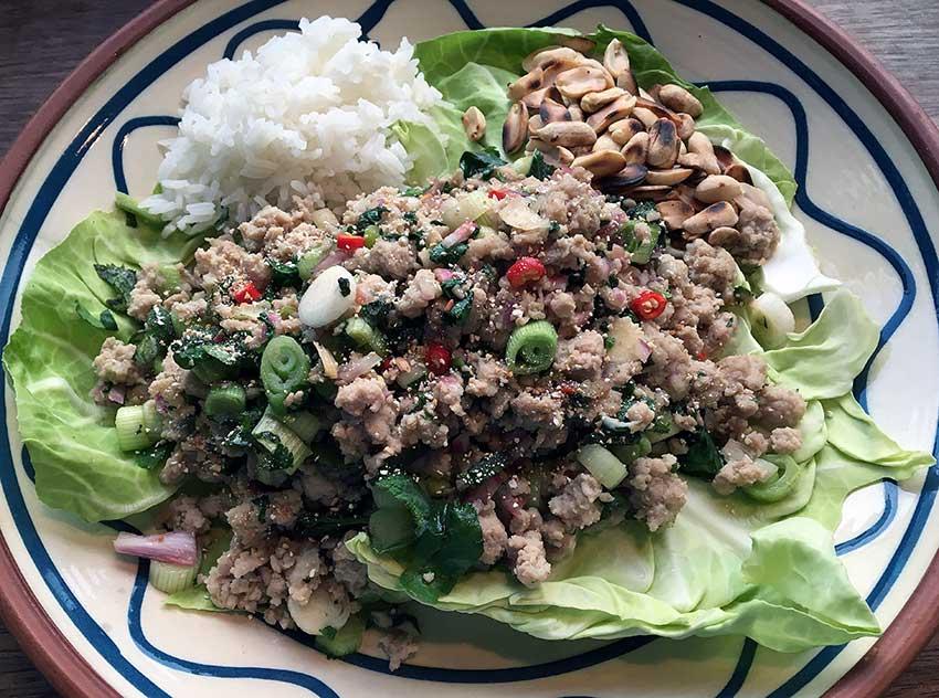 Opskrift: Spicy thai salat med svinekød – larb moo