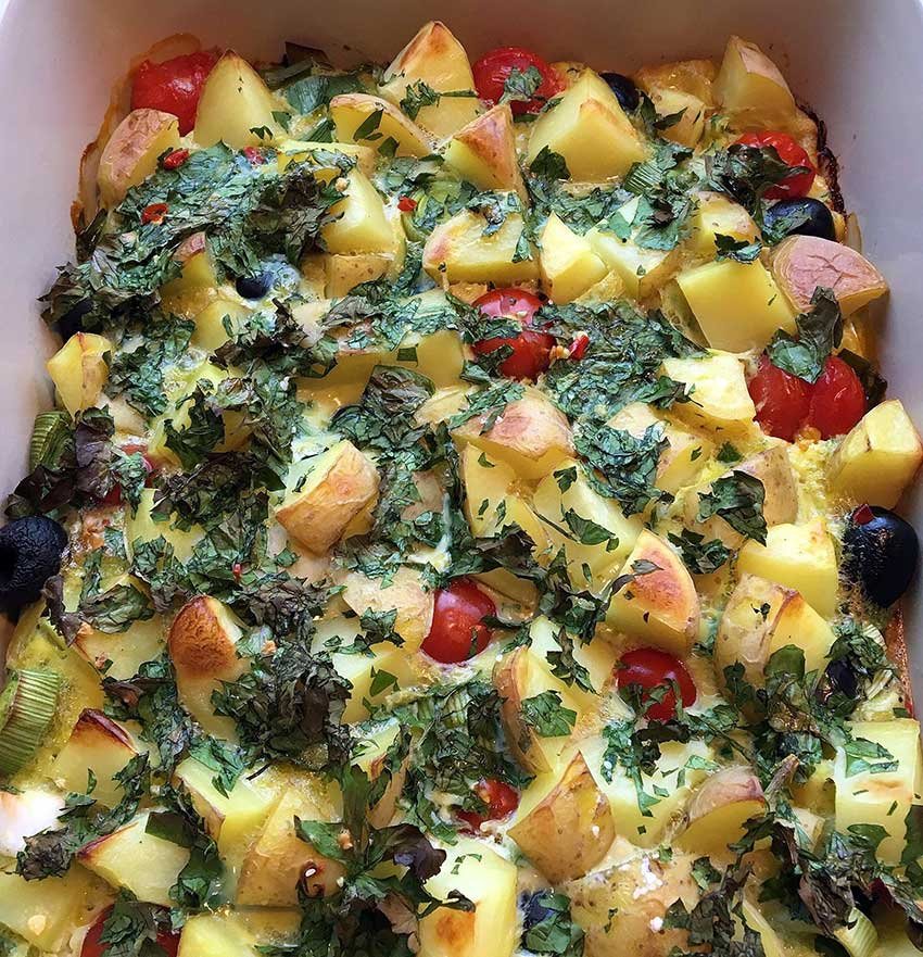 Opskrift: Kartoffel æggekage i ovn