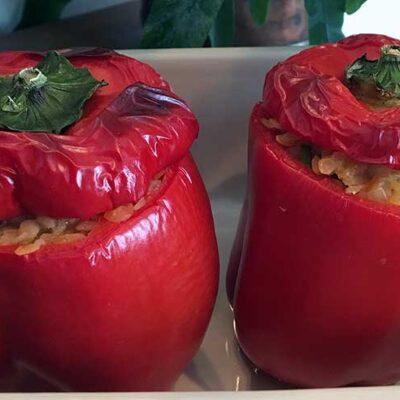 Opskrift: Indiske fyldte peberfrugter vegetar