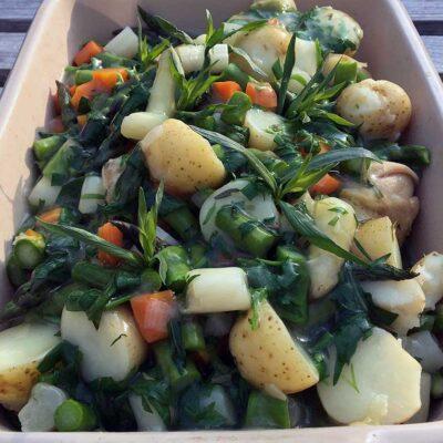 Opskrift: Kylling i asparges (sund)