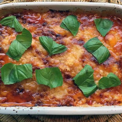 Opskrift: Aubergine-lasagne - melanzane alla parmigiana