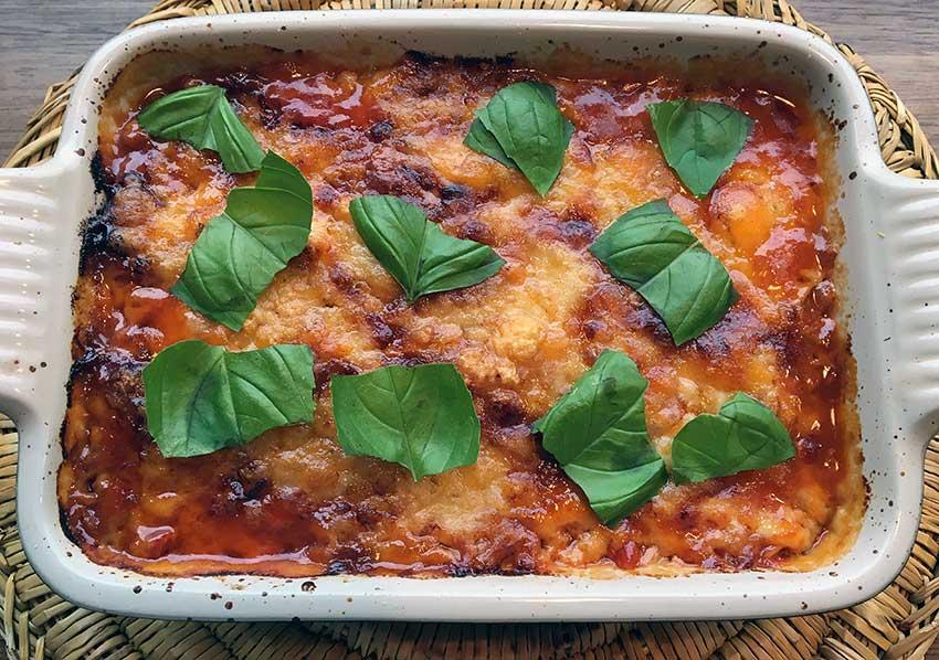 Opskrift: Aubergine-lasagne – melanzane alla parmigiana