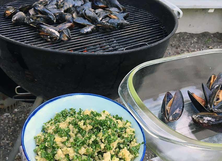 Opskrift: Muslinger på grill