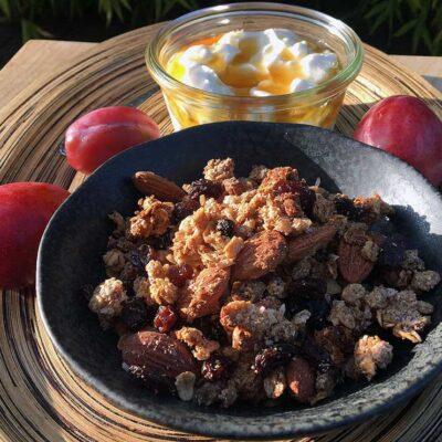 Opskrift: Granola med okara (sojabønner)