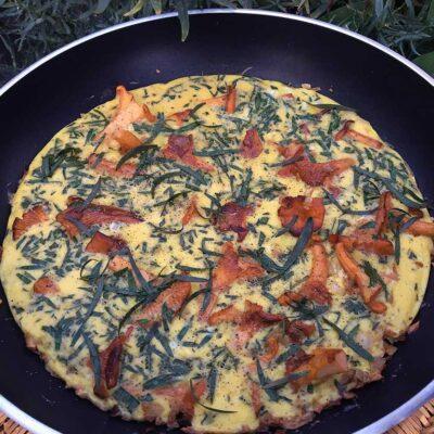 Opskrift: Omelet med kantareller