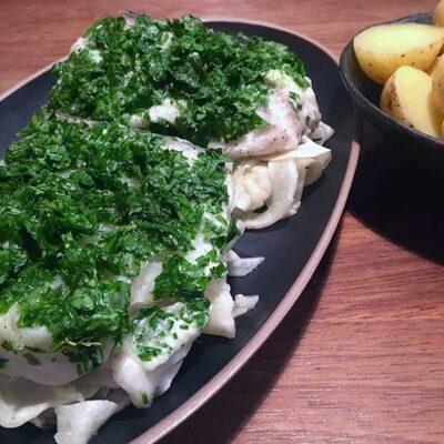 Opskrift: Steaks af helleflynder i ovn