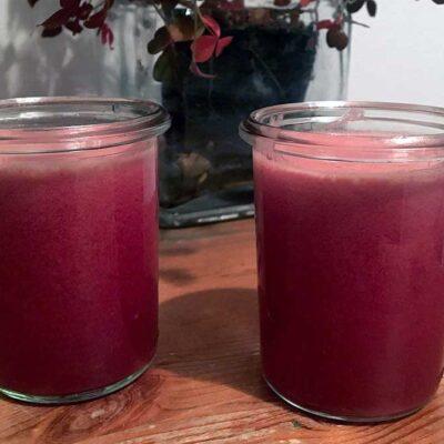 Opskrift: Hjemmelavet juice af granatæble og æble