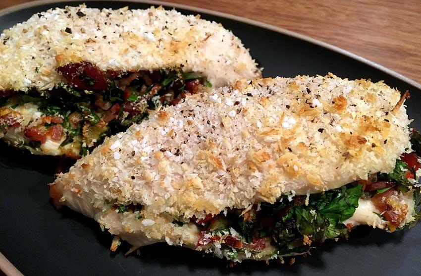 Opskrift: Italiensk fyldt kyllingebryst i ovn