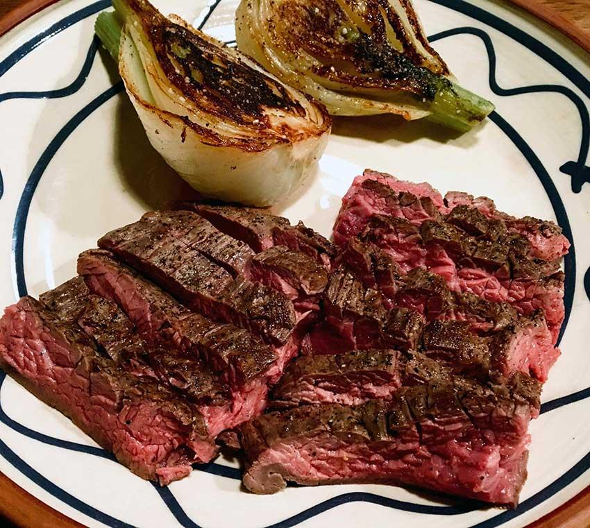 Opskrift: Slagter Lunds flap steak (bavette)