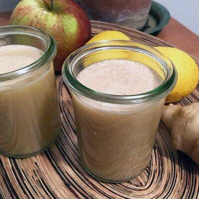 Opskrift: Hjemmelavet juice af jordskokker og æbler