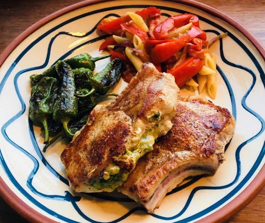Opskrift: Italienske fyldte koteletter