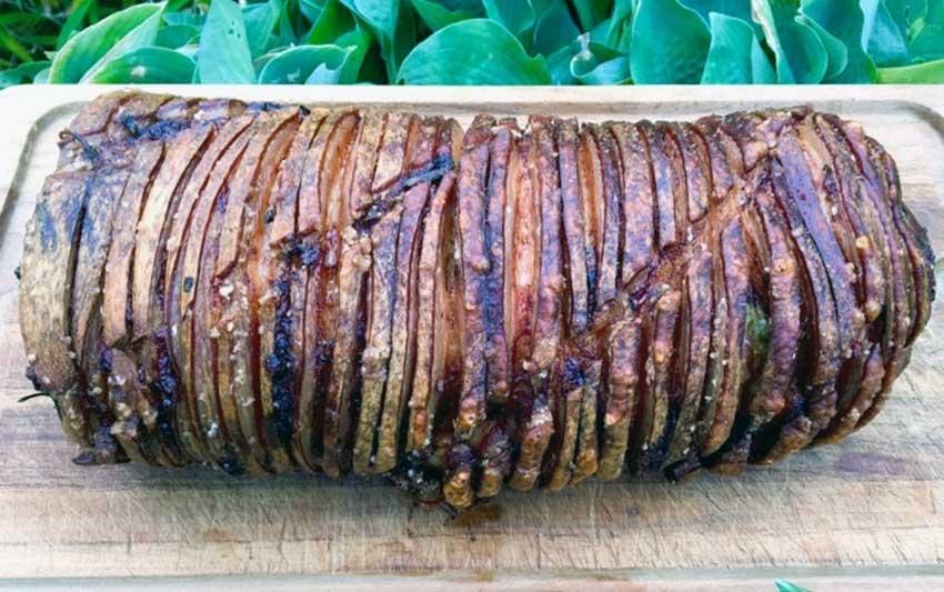 Opskrift: Supersprød porchetta på grill