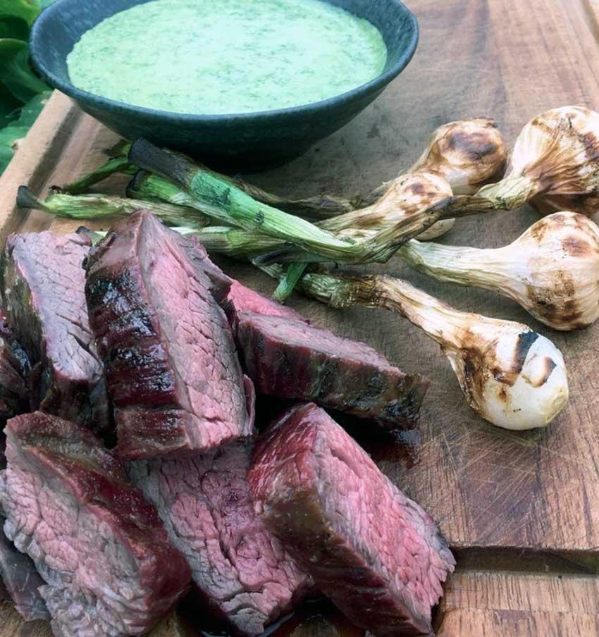 Opskrift: Bavette (flap steak) på grill