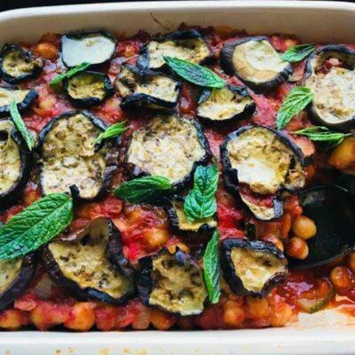 Opskrift: Palæstinensisk moussaka med auberginer