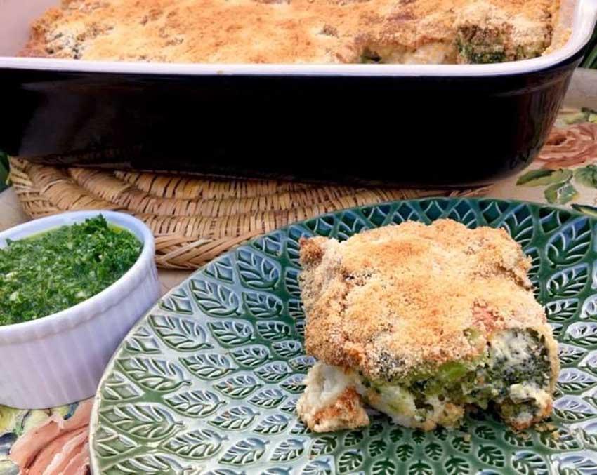 Opskrift: Gammeldags gratin med blomkål og broccoli