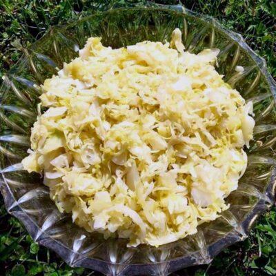 Opskrift: Fermenteret spidskål / surkål