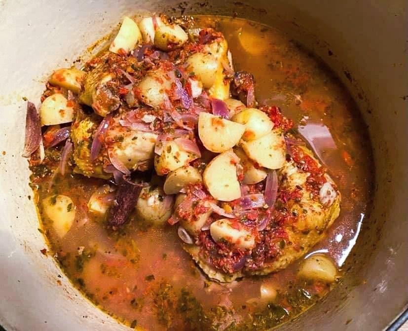 Opskrift: One pot græsk kylling