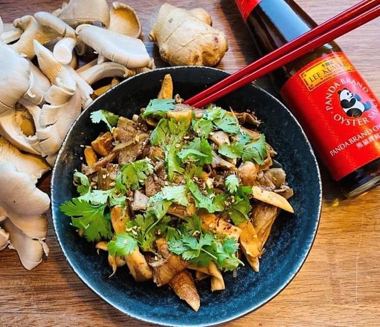 Opskrift: Lynstegte østershatte fra Sichuan
