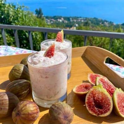 Hjemmelavet figenyoghurt